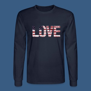 USA Flag Love - Men's Long Sleeve T-Shirt