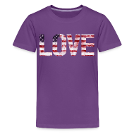 Kids' Shirts ~ Kids' Premium T-Shirt ~ USA Flag Love