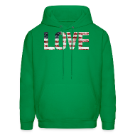 Hoodies ~ Men's Hoodie ~ USA Flag Love