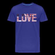 T-Shirts ~ Men's Premium T-Shirt ~ USA Flag Love