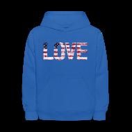 Sweatshirts ~ Kids' Hoodie ~ USA Flag Love