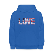 Sweatshirts ~ Kids' Hoodie ~ USA Flag Love