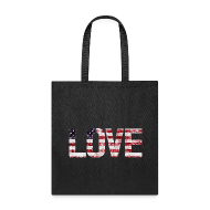 Bags & backpacks ~ Tote Bag ~ USA Flag Love