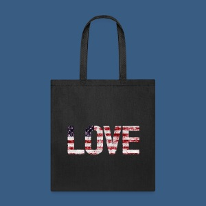 USA Flag Love - Tote Bag