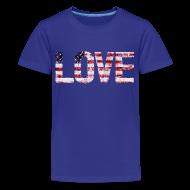 Kids' Shirts ~ Kids' Premium T-Shirt ~ USA Flag Love