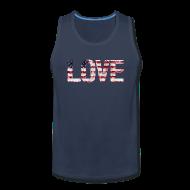 Tank Tops ~ Men's Premium Tank Top ~ USA Flag Love
