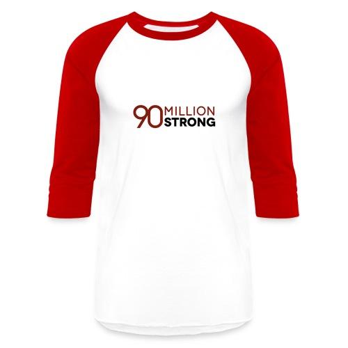 90mStrong Men's Baseball T-Shirt (Red) - Baseball T-Shirt