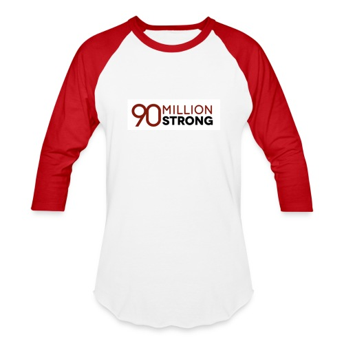 90mStrong Men's Baseball T-Shirt (Red) - Baseball T-Shirt