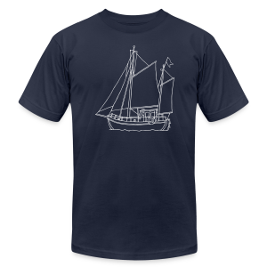 sailing boat - Men's Fine Jersey T-Shirt