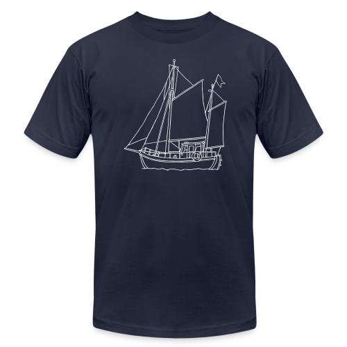 sailing boat - Men's Fine Jersey T-Shirt