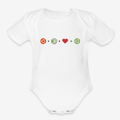 Ubuntu MATE Lurve - Organic Short Sleeve Baby Bodysuit