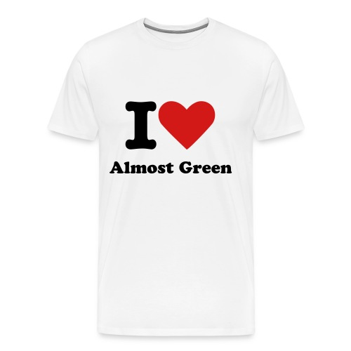 I Heart Almost Green Shirt Men's - Men's Premium T-Shirt
