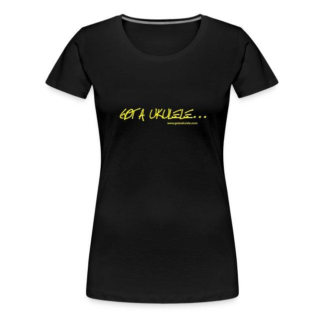 Got A Ukulele Banner womens T shirt