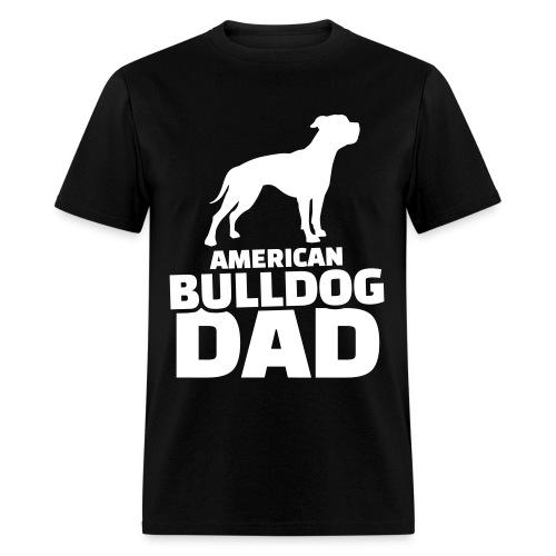 white American bulldog dad - Men's T-Shirt