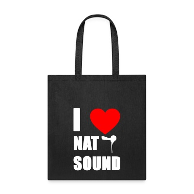 I Love Nat Sound Tote Bag - Tote Bag