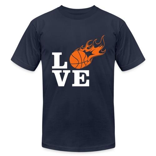 Love Basketball - Men's Fine Jersey T-Shirt