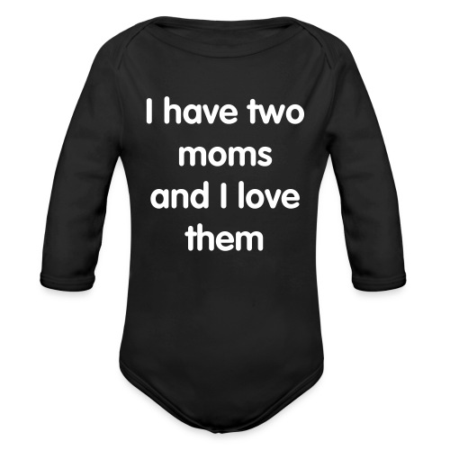 Two moms - Organic Long Sleeve Baby Bodysuit