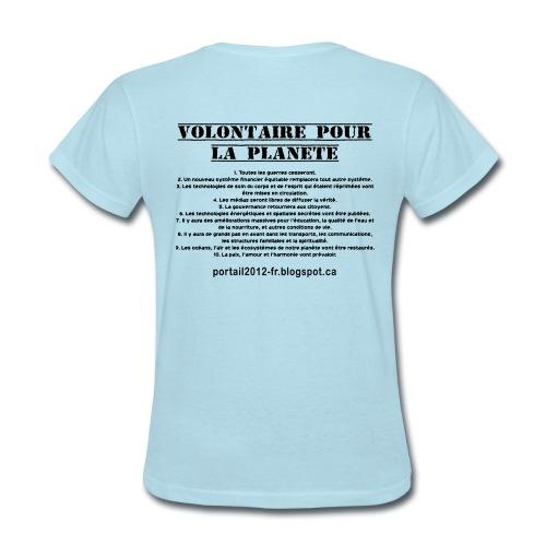 Femme francais économique ciel - Women's T-Shirt