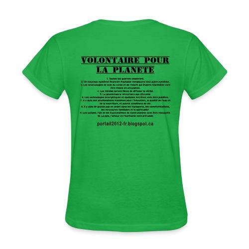 Femme francais économique vert - Women's T-Shirt