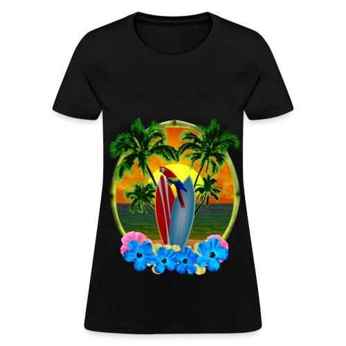 Surfer Sunset - Women's T-Shirt