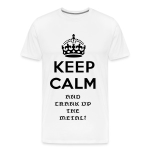 Crank up the metal tshirt - Men's Premium T-Shirt