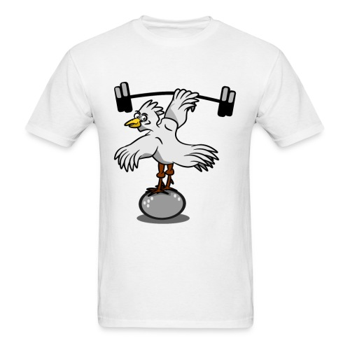 Chicken lifting weights - Men's T-Shirt