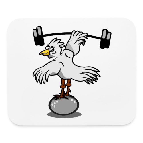 Chicken lifting weights - Mouse pad Horizontal