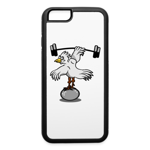Chicken lifting weights - iPhone 6/6s Rubber Case