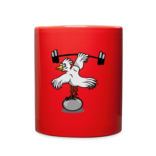 Chicken lifting weights - Full Color Mug