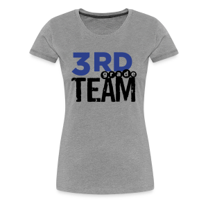 Women's Premium T-Shirt - Women's 3rd Grade Team. Add your name to the back! Changing text is currently only available from a desktop computer. The place for AMAZING teacher shirts for all grades and special school days! With Teacher T-Shirts you get fun designs for spirit wear in all sizes. **See printing/care information below. Size/Measurement details available at the bottom of this page.**