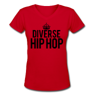 Women's T-Shirts ~ Women's V-Neck T-Shirt ~ DHH Crown (Women / V-Neck)
