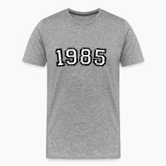 Year 1985 Vintage Birthday T-Shirt (Men Black&Whit