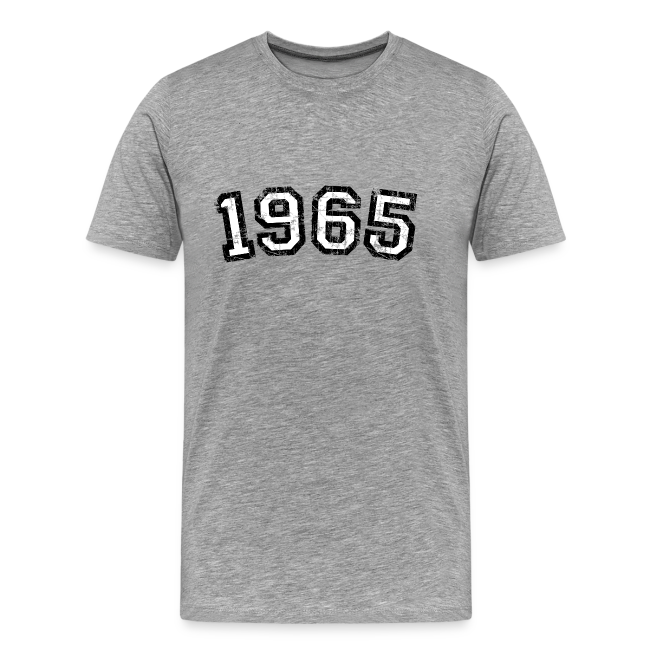 1965 Vintage Birthday T Shirt Men BlackWhite
