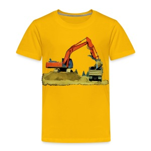 Yellow Excavator - Toddler Premium T-Shirt