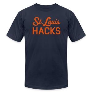 St. Louis Hacks (Houston Colors) - Men's Fine Jersey T-Shirt
