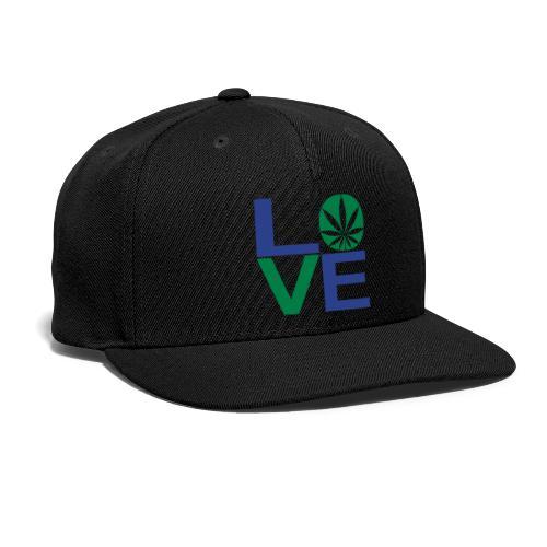 Love Snap-back Baseball Hat - Snap-back Baseball Cap
