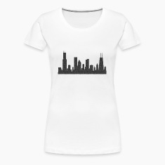 Chi Chicago Skyline Silhouette  Women's T-Shirts