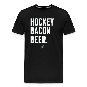 Hockey Bacon Beer - Men's Premium T-Shirt