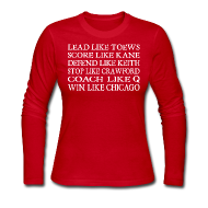 Long Sleeve Shirts ~ Women's Long Sleeve Jersey T-Shirt ~ Lead like Toews, Score like Kane