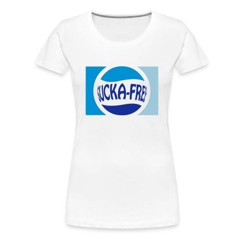Sucka Free Tee (blues) - Women's Premium T-Shirt