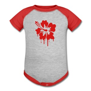 Dripping Hibiscus  - Baby Contrast One Piece