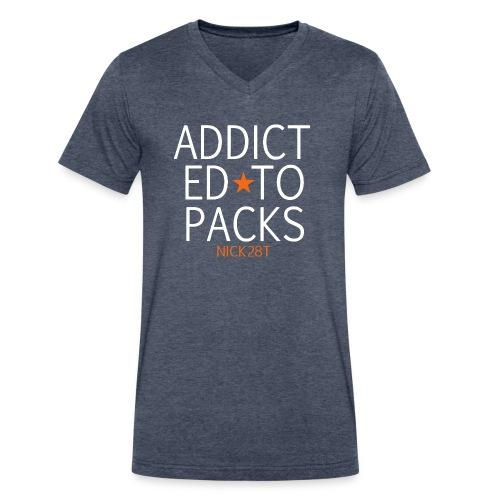 Pack-Addict 28Vneck - Men's V-Neck T-Shirt by Canvas