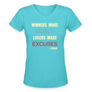 Womens V neck shirt - Women's V-Neck T-Shirt