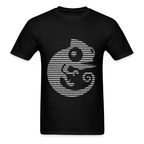GNS3 White Binary Chameleon Crew Neck - Men's T-Shirt