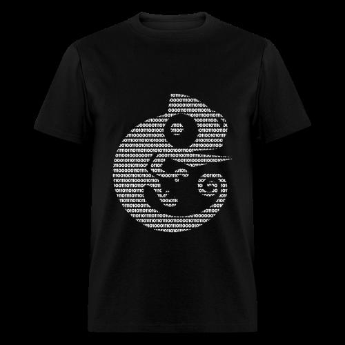 GNS3 White Binary Chameleon Crew Neck - Men's T-Shirt