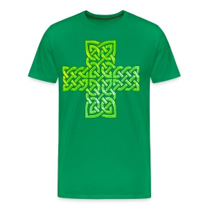 Green Celtic Cross I - Men's Premium T-Shirt