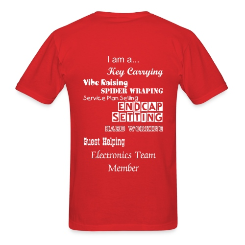 Male Electronic Team Member Shirt - Men's T-Shirt