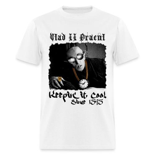 Pimp Dracula - Vlad II Dracul - Black Text - Men's T-Shirt