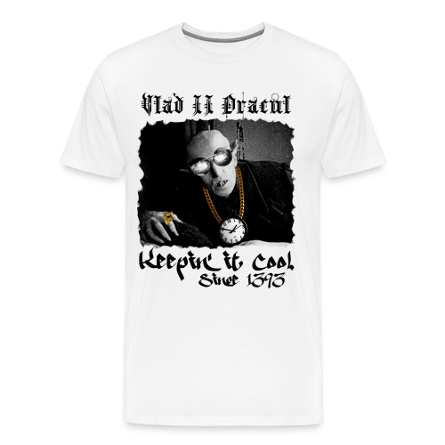 Pimp Dracula - Vlad II Dracul - Black Text - Men's Premium T-Shirt