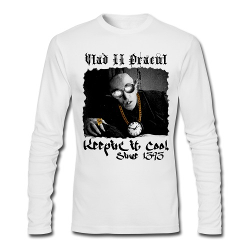 Pimp Dracula - Vlad II Dracul - Black Text - Men's Long Sleeve T-Shirt by Next Level